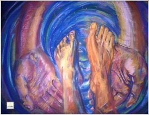 foot washing art