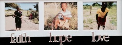 Our World Vision children:  Mkhuleko, Mhlonipheni, and Nolikhwa
