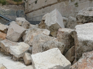 Stones thrown down - ruins from the 2nd Temple.